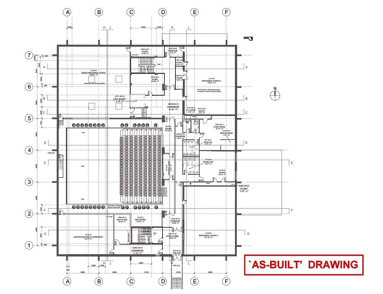 As Built Drawings Gallery Cad Hvac Drawing Office Plan 002 01